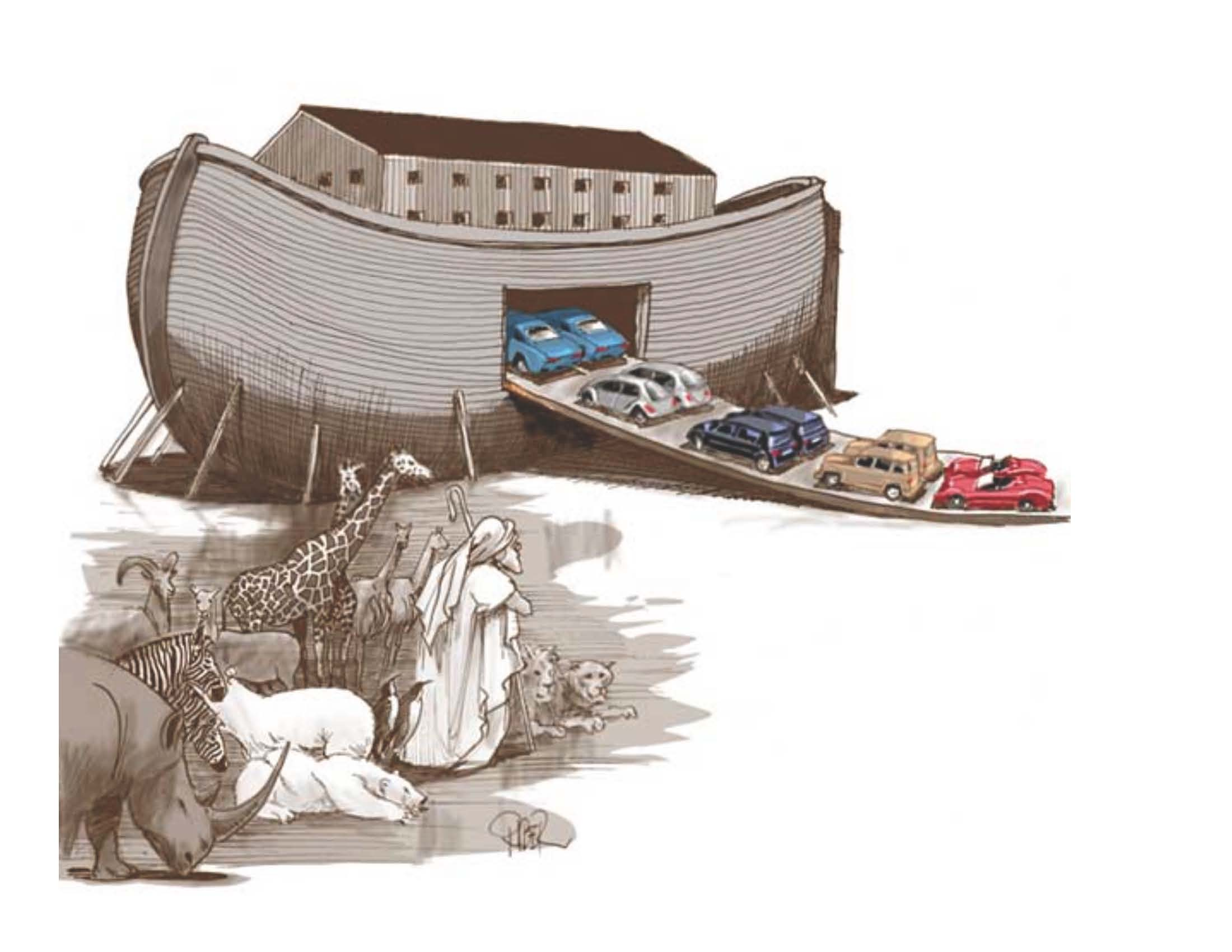 Noahs Ark Record Retention Cartoons