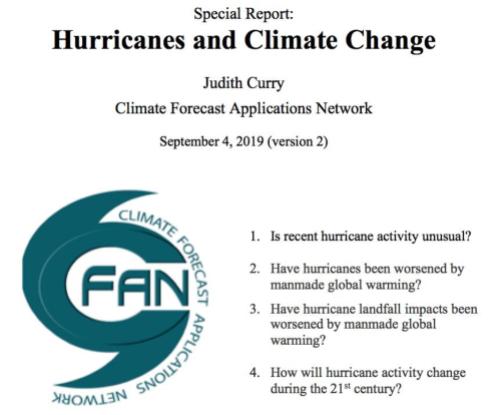 Alarmism enforcement' on hurricanes and global warming